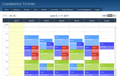Tutor Scheduling Amp Business Software Tutorpanel